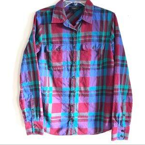 J Crew Plaid Button Down Flannel Shirt